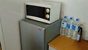 レンタルで納品した電子レンジの写真
