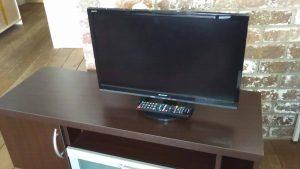 レンタルで納品したテレビの写真