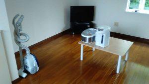 レンタルで納品した家具家電の写真