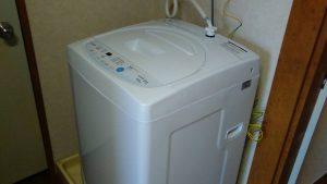 レンタルで納品した洗濯機の写真