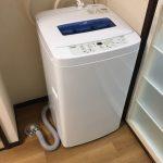 山梨県中央市よりらくらく家電3点セット(85L冷蔵庫、4.2k洗濯機、電子レンジ)のご注文をいただきました。家電 レンタル 設置 格安 月額払い